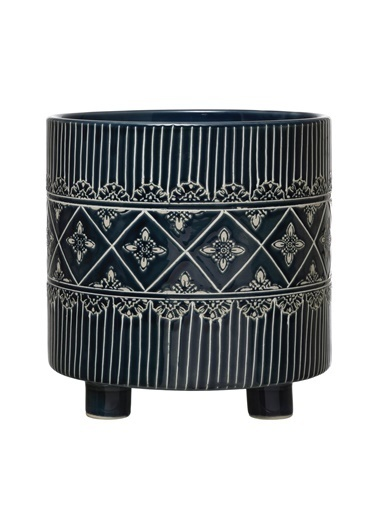 Warm Design Porselen Dekoratif Ayaklı Saksı Renkli
